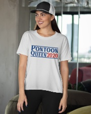 PONTOON BOAT GIFT - PONTOON QUEEN 2020 Ladies T-Shirt apparel-ladies-t-shirt-lifestyle-front-07
