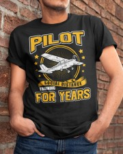PILOT GIFTS - SOCIAL DISTANCE TRAINING FOR YEARS Classic T-Shirt apparel-classic-tshirt-lifestyle-26
