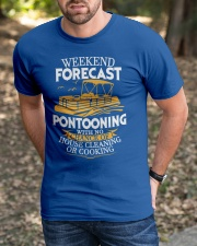 PONTOON BOAT GIFTS - WEEKEND FORECAST Classic T-Shirt apparel-classic-tshirt-lifestyle-front-52
