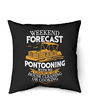 "PONTOON BOAT GIFTS - WEEKEND FORECAST Indoor Pillow - 16"" x 16"" thumbnail"