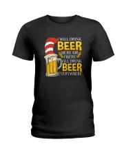 BEER ME- DRINK EVERYWHERE Ladies T-Shirt thumbnail