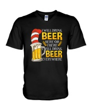 BEER ME- DRINK EVERYWHERE V-Neck T-Shirt thumbnail
