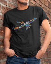 AVIATION RELATED GIFTS - PILOT WORD ART Classic T-Shirt apparel-classic-tshirt-lifestyle-26