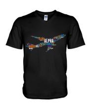 AVIATION RELATED GIFTS - PILOT WORD ART V-Neck T-Shirt thumbnail