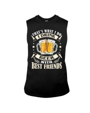 CRAFT BEER LOVER - DRINK BEER WITH BEST FRIENDS Sleeveless Tee thumbnail