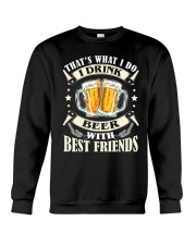 CRAFT BEER LOVER - DRINK BEER WITH BEST FRIENDS Crewneck Sweatshirt thumbnail