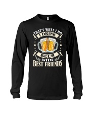 CRAFT BEER LOVER - DRINK BEER WITH BEST FRIENDS Long Sleeve Tee thumbnail
