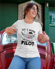 AVIATION LOVER - JUST A WOMAN WHO LOVES HER PILOT Ladies T-Shirt apparel-ladies-t-shirt-lifestyle-01