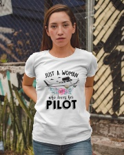 AVIATION LOVER - JUST A WOMAN WHO LOVES HER PILOT Ladies T-Shirt apparel-ladies-t-shirt-lifestyle-03