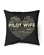 "PILOT GIFT - PILOT WIFE Indoor Pillow - 16"" x 16"" thumbnail"