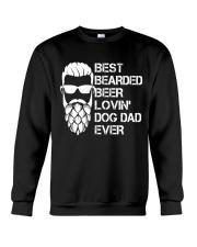 BEER LOVER - BEST BEARDED BEER LOVING DOG DAD EVER Crewneck Sweatshirt thumbnail