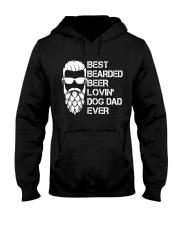 BEER LOVER - BEST BEARDED BEER LOVING DOG DAD EVER Hooded Sweatshirt thumbnail