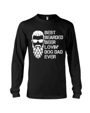 BEER LOVER - BEST BEARDED BEER LOVING DOG DAD EVER Long Sleeve Tee thumbnail