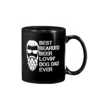 BEER LOVER - BEST BEARDED BEER LOVING DOG DAD EVER Mug thumbnail