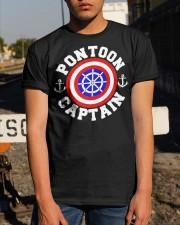 PONTOON BOAT GIFT - PONTOON SHIELD Classic T-Shirt apparel-classic-tshirt-lifestyle-29