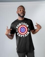 PONTOON BOAT GIFT - PONTOON SHIELD Classic T-Shirt apparel-classic-tshirt-lifestyle-front-32