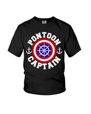 PONTOON BOAT GIFT - PONTOON SHIELD Youth T-Shirt thumbnail