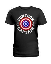 PONTOON BOAT GIFT - PONTOON SHIELD Ladies T-Shirt thumbnail