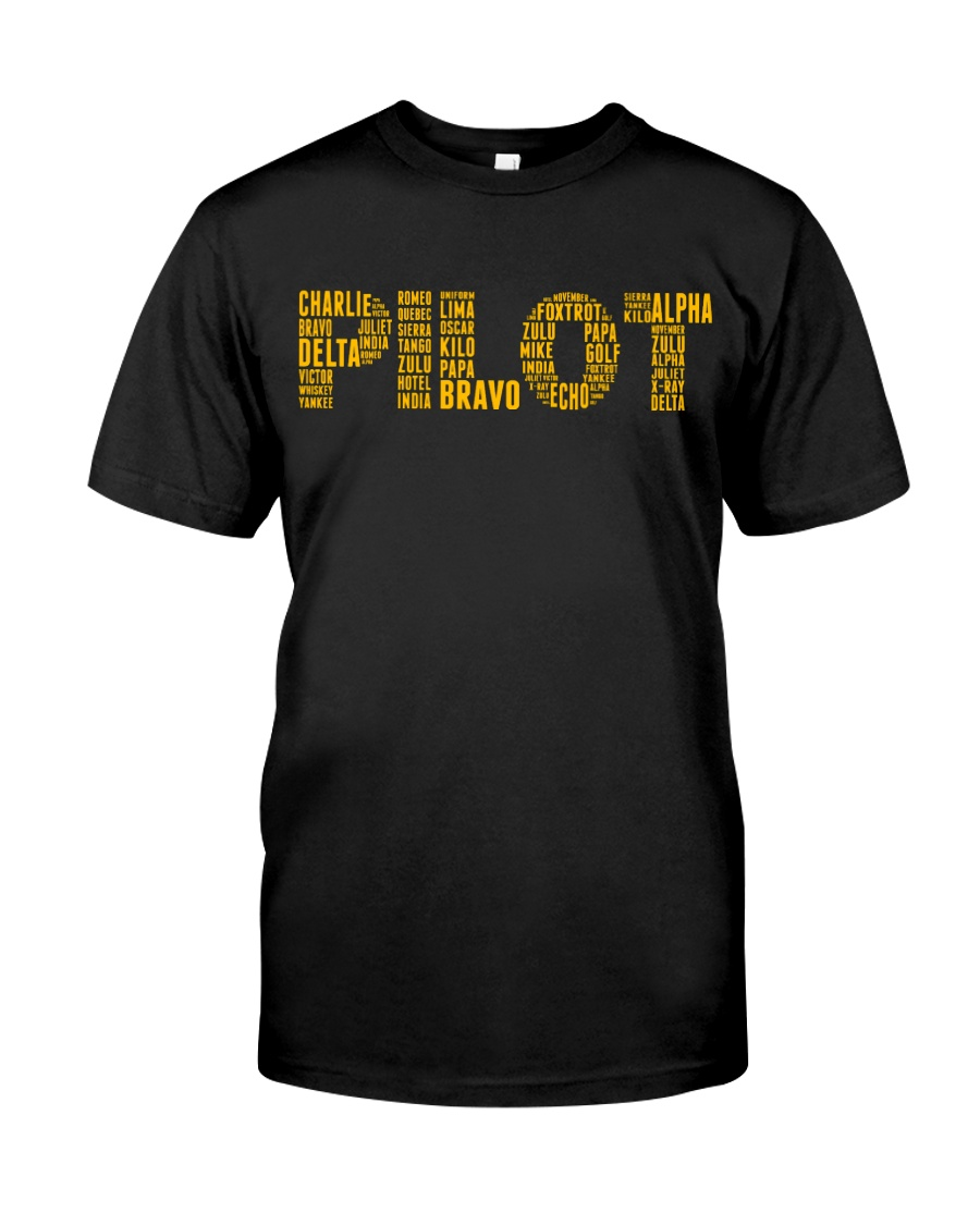 AVIATION RELATED GIFTS - PILOT PHONETIC ALPHABET Classic T-Shirt