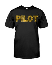 AVIATION RELATED GIFTS - PILOT PHONETIC ALPHABET Classic T-Shirt front