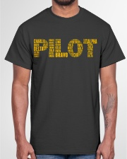 AVIATION RELATED GIFTS - PILOT PHONETIC ALPHABET Classic T-Shirt garment-tshirt-unisex-front-03