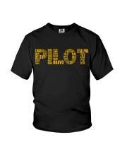 AVIATION RELATED GIFTS - PILOT PHONETIC ALPHABET Youth T-Shirt thumbnail