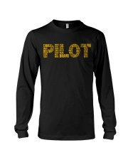 AVIATION RELATED GIFTS - PILOT PHONETIC ALPHABET Long Sleeve Tee thumbnail