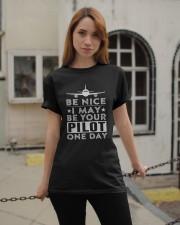 AVIATION PILOT GIFT - BE NICE Classic T-Shirt apparel-classic-tshirt-lifestyle-19