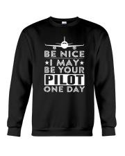 AVIATION PILOT GIFT - BE NICE Crewneck Sweatshirt thumbnail