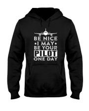 AVIATION PILOT GIFT - BE NICE Hooded Sweatshirt thumbnail