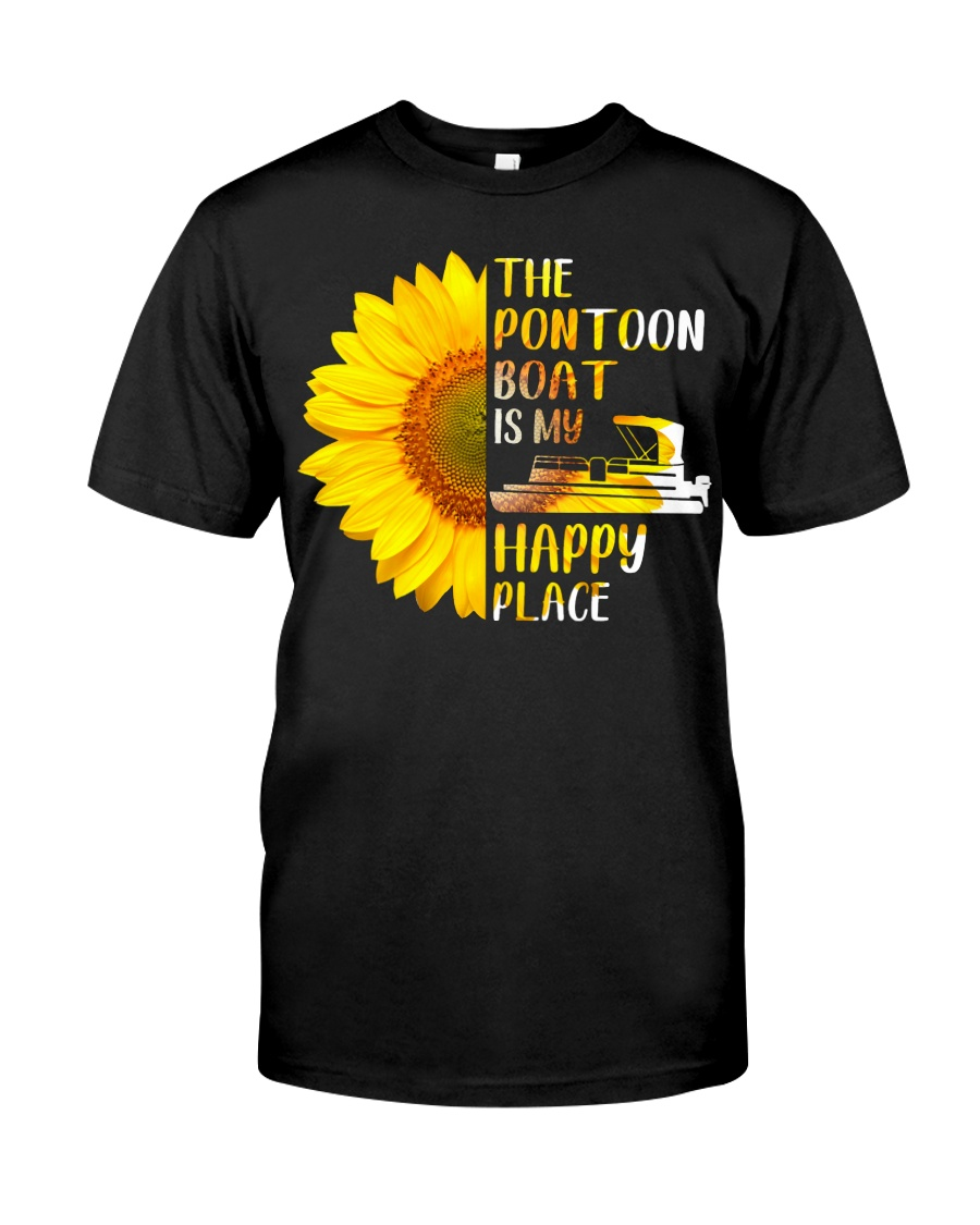 PONTOON BOAT GIFT - HAPPY PLACE Classic T-Shirt
