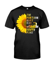 PONTOON BOAT GIFT - HAPPY PLACE Classic T-Shirt front