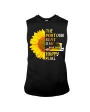 PONTOON BOAT GIFT - HAPPY PLACE Sleeveless Tee thumbnail