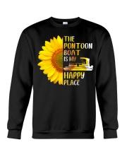 PONTOON BOAT GIFT - HAPPY PLACE Crewneck Sweatshirt thumbnail