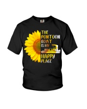 PONTOON BOAT GIFT - HAPPY PLACE Youth T-Shirt thumbnail