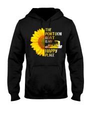 PONTOON BOAT GIFT - HAPPY PLACE Hooded Sweatshirt thumbnail