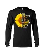 PONTOON BOAT GIFT - HAPPY PLACE Long Sleeve Tee thumbnail