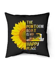 """PONTOON BOAT GIFT - HAPPY PLACE Indoor Pillow - 16"""" x 16"""" thumbnail"""