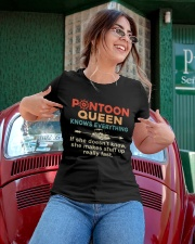 PONTOON BOAT GIFT - PONTOON QUEEN KNOWS EVERYTHING Ladies T-Shirt apparel-ladies-t-shirt-lifestyle-01