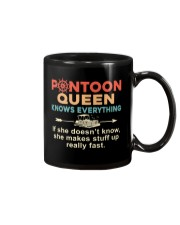PONTOON BOAT GIFT - PONTOON QUEEN KNOWS EVERYTHING Mug tile