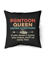 "PONTOON BOAT GIFT - PONTOON QUEEN KNOWS EVERYTHING Indoor Pillow - 16"" x 16"" thumbnail"