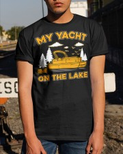PONTOON BOAT GIFT - MY YACHT ON THE LAKE Classic T-Shirt apparel-classic-tshirt-lifestyle-29