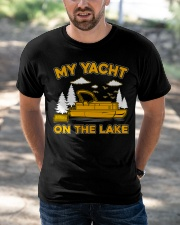 PONTOON BOAT GIFT - MY YACHT ON THE LAKE Classic T-Shirt apparel-classic-tshirt-lifestyle-front-50