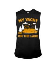 PONTOON BOAT GIFT - MY YACHT ON THE LAKE Sleeveless Tee thumbnail