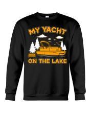 PONTOON BOAT GIFT - MY YACHT ON THE LAKE Crewneck Sweatshirt thumbnail