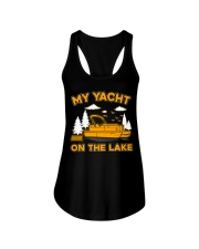 PONTOON BOAT GIFT - MY YACHT ON THE LAKE Ladies Flowy Tank thumbnail