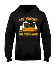 PONTOON BOAT GIFT - MY YACHT ON THE LAKE Hooded Sweatshirt thumbnail