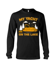 PONTOON BOAT GIFT - MY YACHT ON THE LAKE Long Sleeve Tee thumbnail