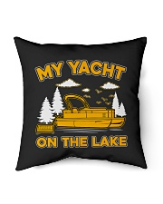 "PONTOON BOAT GIFT - MY YACHT ON THE LAKE Indoor Pillow - 16"" x 16"" thumbnail"