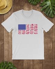 PILOT GIFT - AIRCRAFT AMERICAN FLAG Classic T-Shirt lifestyle-mens-crewneck-front-18
